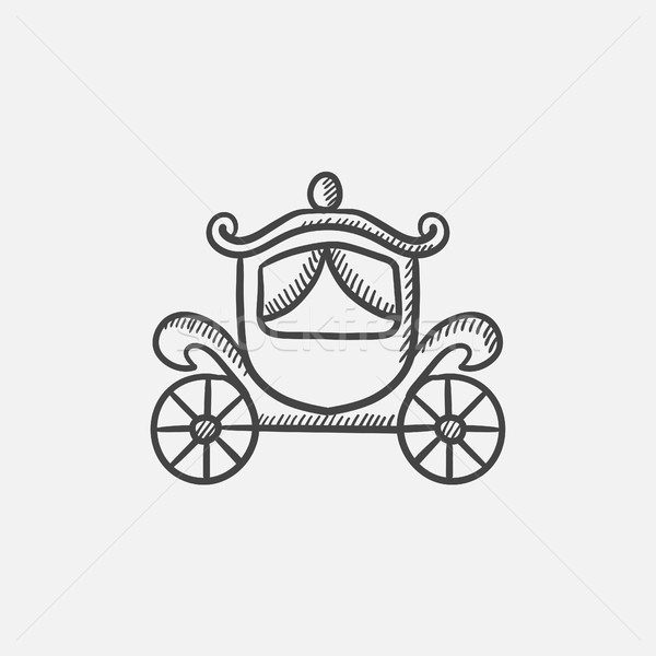 Wedding carriage sketch icon. Stock photo © RAStudio