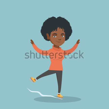 Young African Woman Practicing Yoga Tree Pose Vector Illustration C Rastudio 8793070 Stockfresh Lift up your arms and make #prayer position. young african woman practicing yoga