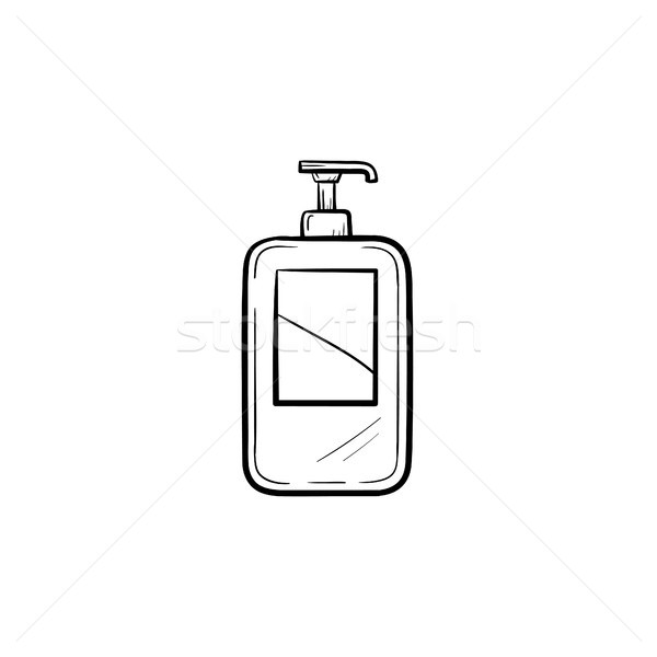 Shampoo sketch icona vettore contorno Foto d'archivio © RAStudio
