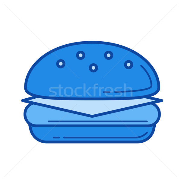 Cheeseburger linha ícone vetor isolado branco Foto stock © RAStudio