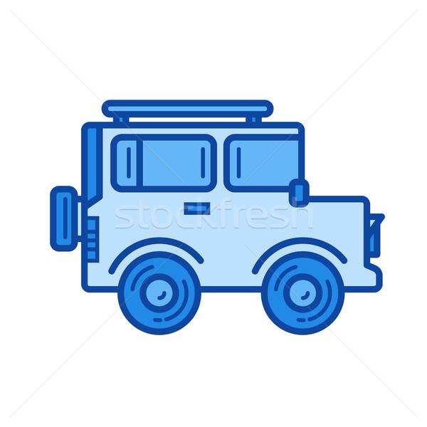 Samochodu line ikona wektora odizolowany biały Zdjęcia stock © RAStudio