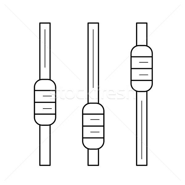 オーディオ レコード 行 アイコン ベクトル 孤立した ストックフォト © RAStudio