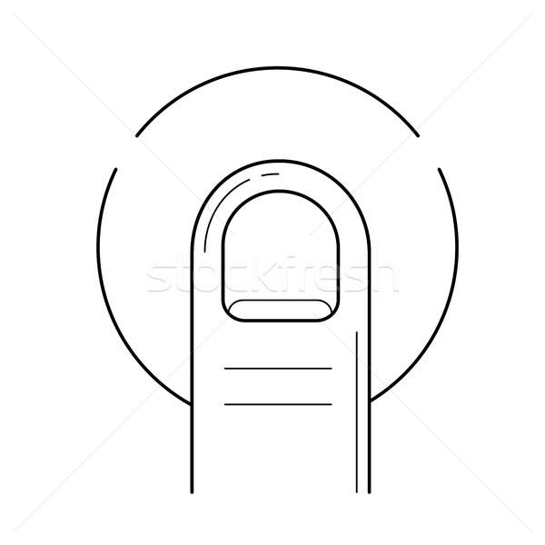 Dotknij line ikona wektora odizolowany biały Zdjęcia stock © RAStudio