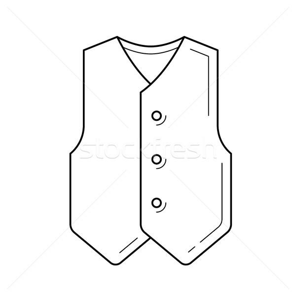 Waistcoat vector line icon. Stock photo © RAStudio