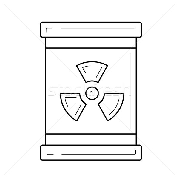 Nuclear waste vector line icon. Stock photo © RAStudio
