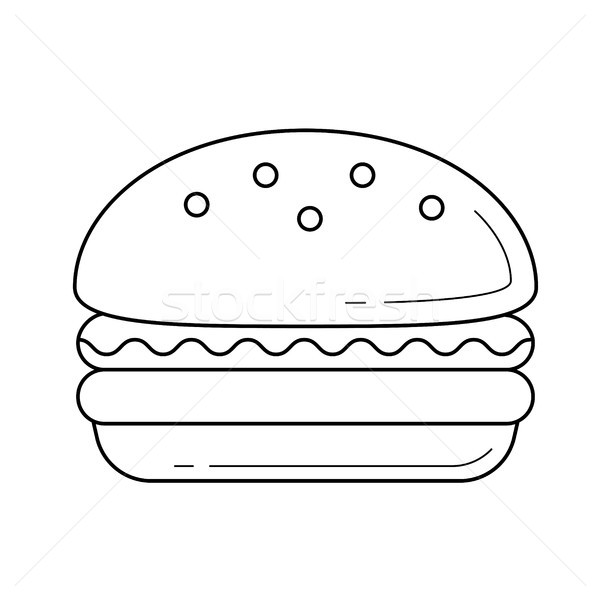 Burger vektör hat ikon yalıtılmış beyaz Stok fotoğraf © RAStudio