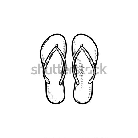 Paar slippers schets doodle icon Stockfoto © RAStudio