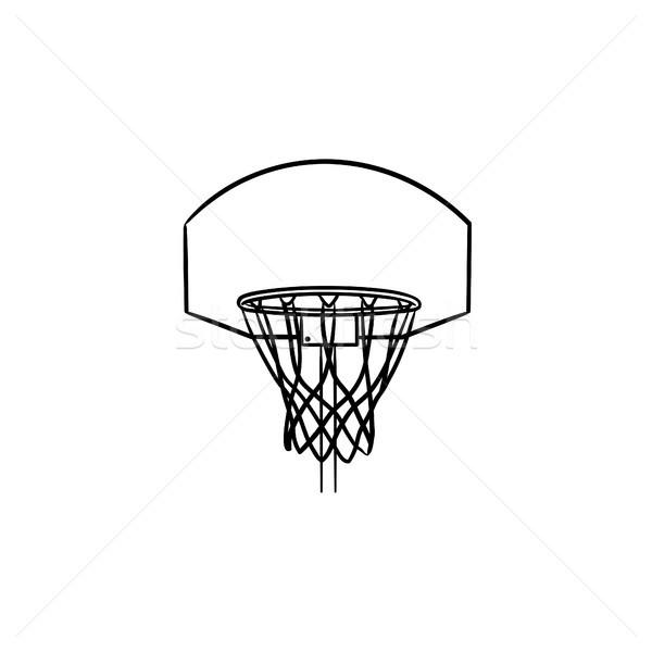 バスケットボール 純 手描き いたずら書き アイコン ストックフォト © RAStudio