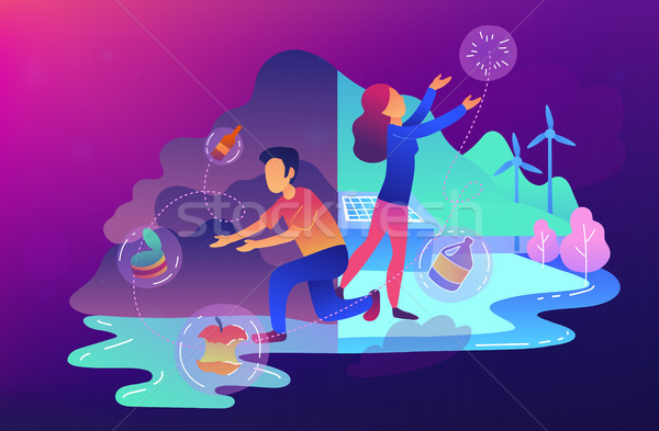 Waste-free, zero waste technology concept vector illustration. Stock photo © RAStudio