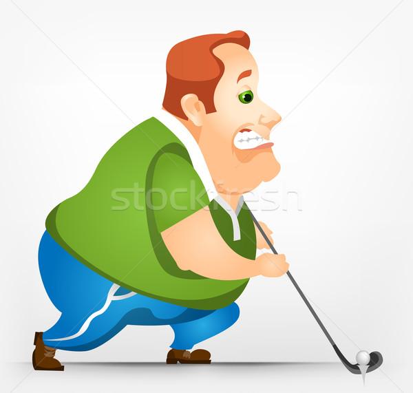 ぽってり 男 ゴルフ 楽しい 行使 ストックフォト © RAStudio
