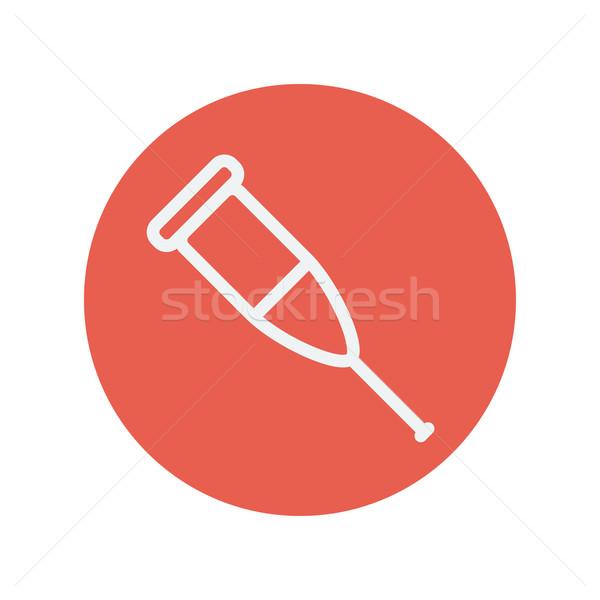 Muleta delgado línea icono web móviles Foto stock © RAStudio