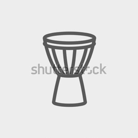 Timpani thin line icon Stock photo © RAStudio
