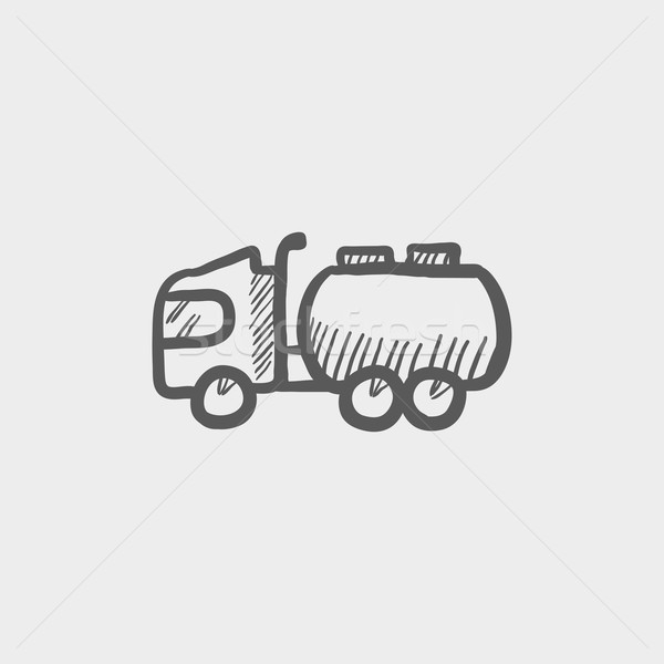 Tanker truck sketch icon Stock photo © RAStudio