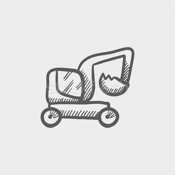 Excavator truck sketch icon Stock photo © RAStudio