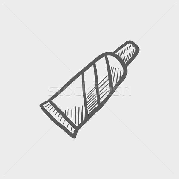 Tüp diş macunu kroki ikon web hareketli Stok fotoğraf © RAStudio