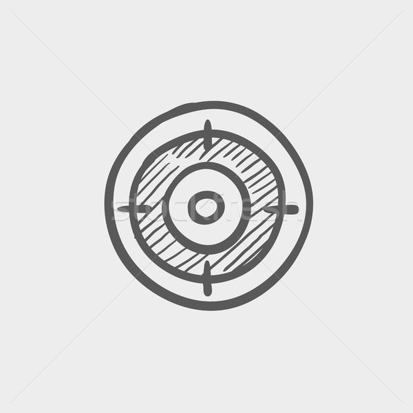 целевой совета эскиз икона веб мобильных Сток-фото © RAStudio