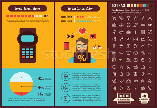 Stock photo: Shopping flat design Infographic Template