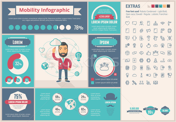 Mobility flat design Infographic Template Stock photo © RAStudio