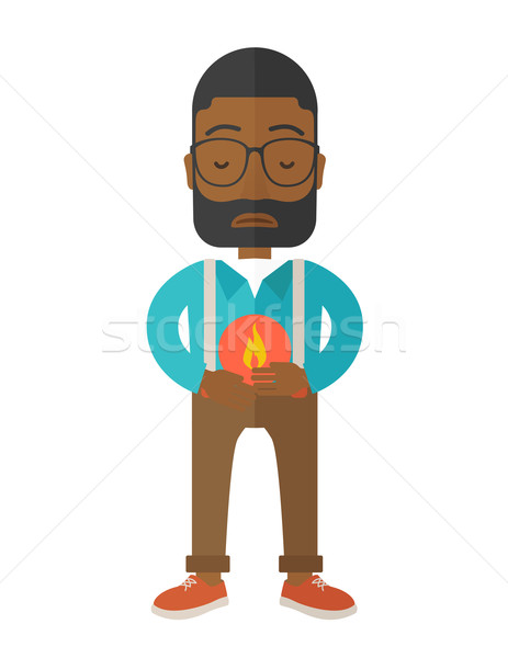 Man with heartburn. Stock photo © RAStudio