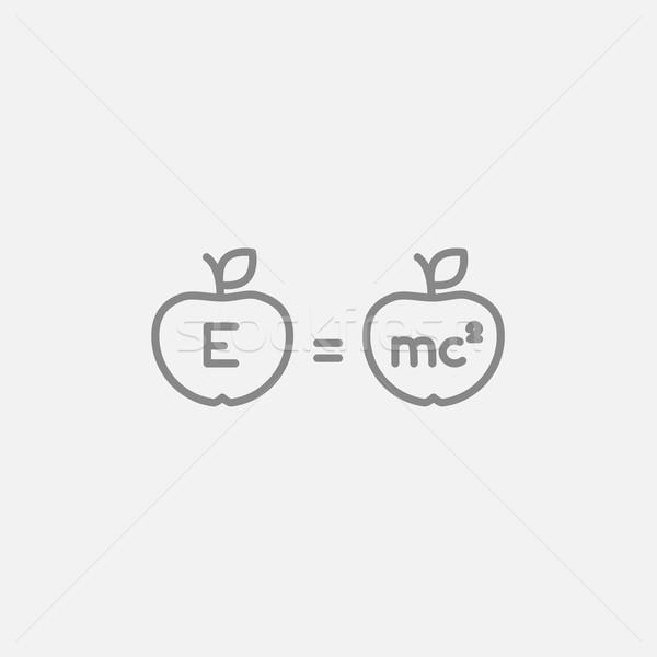 ストックフォト: 2 · リンゴ · 行 · アイコン · ウェブ · 携帯