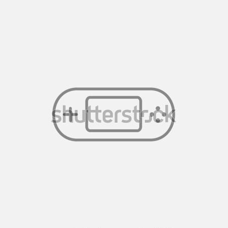 ゲーム コンソール ガジェット 行 アイコン ウェブ ストックフォト © RAStudio