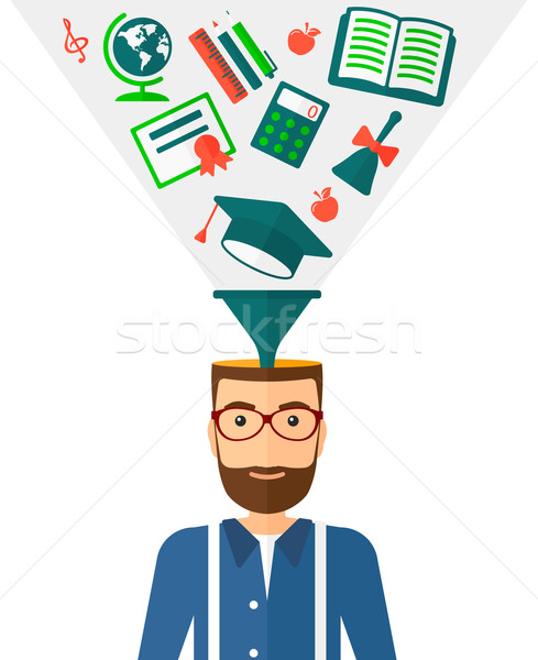 Smart cheerful man. Stock photo © RAStudio