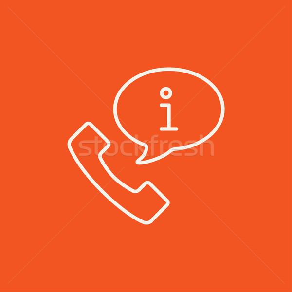 Stock photo: Customer service line icon.