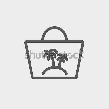 Beach bag line icon. Stock photo © RAStudio