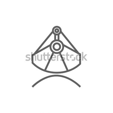 Madencilik endüstriyel kepçe hat ikon web Stok fotoğraf © RAStudio