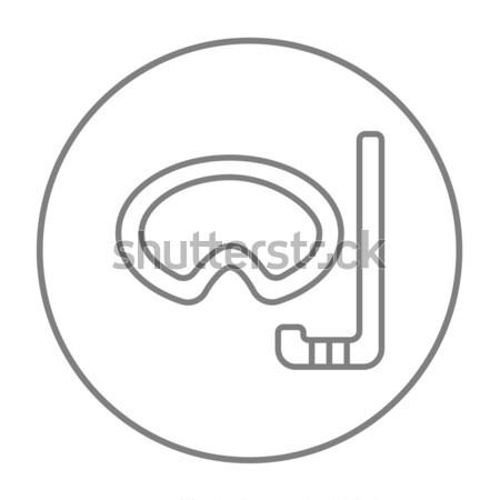 マスク シュノーケル 行 アイコン ウェブ 携帯 ストックフォト © RAStudio