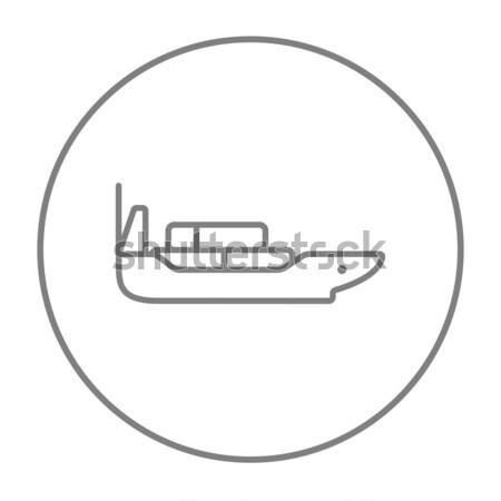 Vracht containerschip lijn icon web mobiele Stockfoto © RAStudio