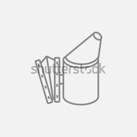 Arı kovan sigara tiryakisi hat ikon web Stok fotoğraf © RAStudio