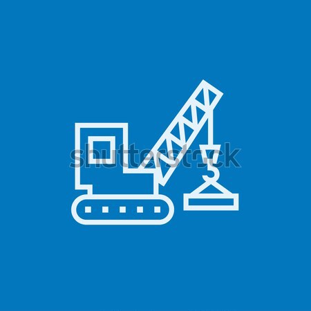 Lifting crane line icon. Stock photo © RAStudio