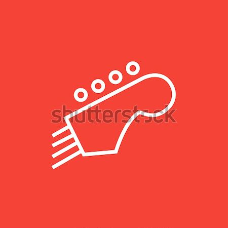 Head of the guitar line icon. Stock photo © RAStudio