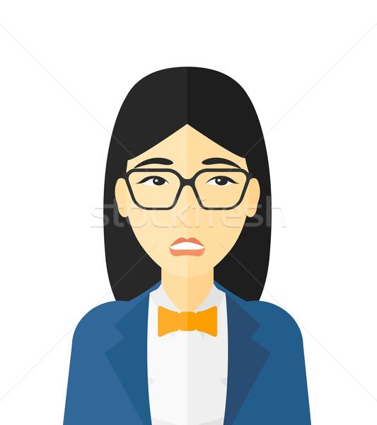Embarrassed woman in glasses. Stock photo © RAStudio