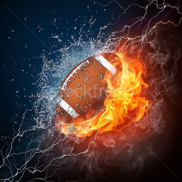 Football balle feu eau infographie orange Photo stock © RAStudio