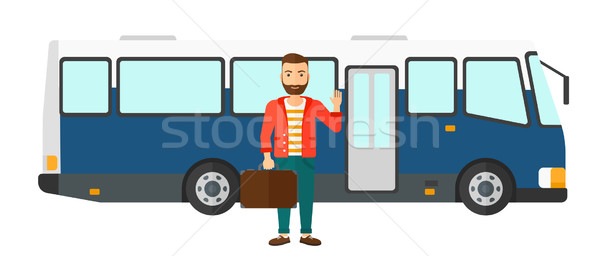 Man standing near bus. Stock photo © RAStudio