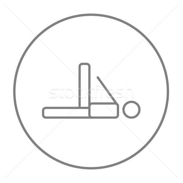 Man making exercises line icon. Stock photo © RAStudio