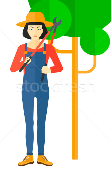 Farmer with pruner. Stock photo © RAStudio