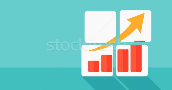 Background of growing graph. Stock photo © RAStudio