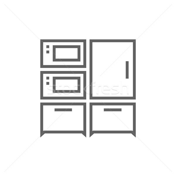 Household appliances line icon. Stock photo © RAStudio