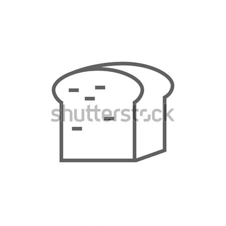 Half brood lijn icon hoeken web Stockfoto © RAStudio