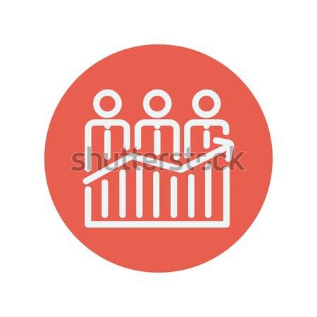 üzletemberek áll nyereség grafikon vonal ikon Stock fotó © RAStudio