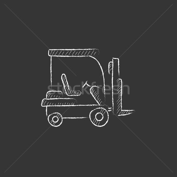 フォークリフト チョーク アイコン 手描き ベクトル ストックフォト © RAStudio
