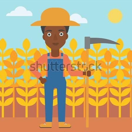 Farmer with tablet computer on field. Stock photo © RAStudio