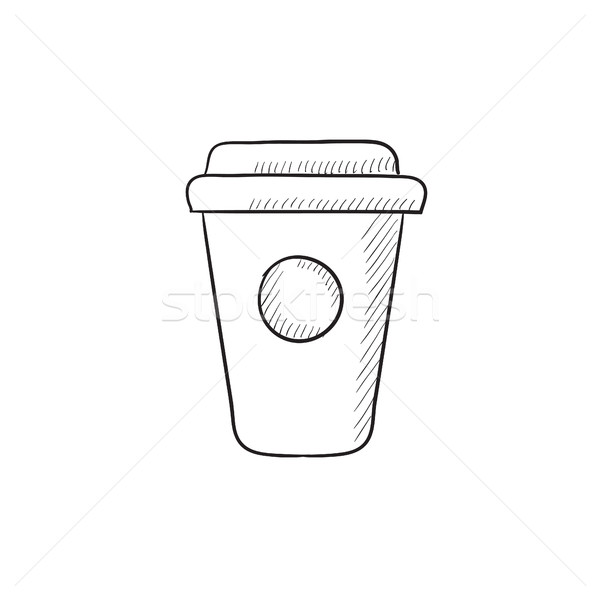 Disposable cup sketch icon. Stock photo © RAStudio
