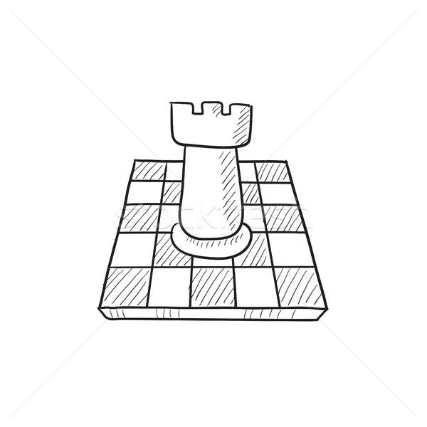 Ajedrez boceto icono vector aislado dibujado a mano Foto stock © RAStudio
