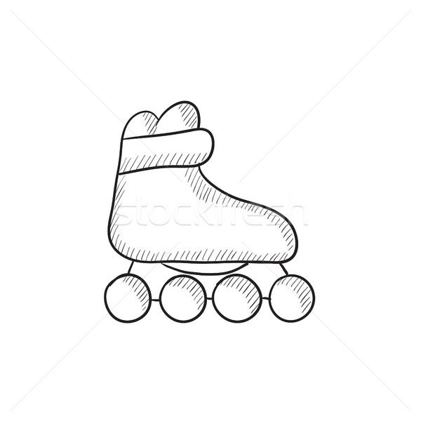 Roller skate sketch icon. Stock photo © RAStudio