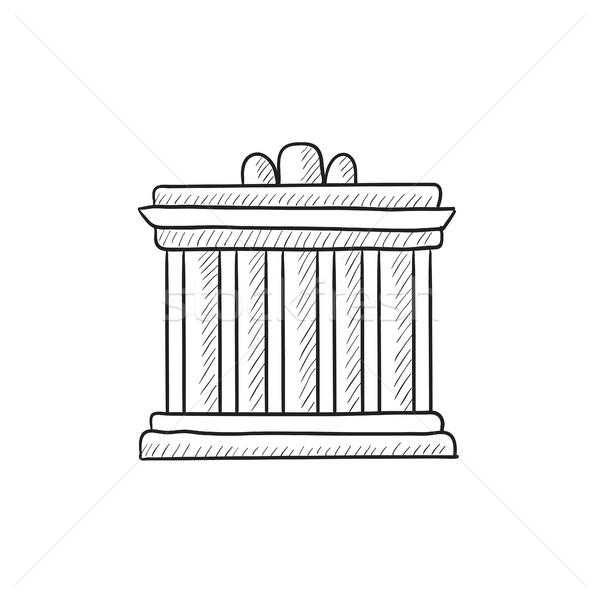 Acrópole Atenas esboço ícone vetor isolado Foto stock © RAStudio