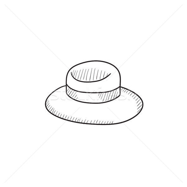 Summer hat sketch icon. Stock photo © RAStudio